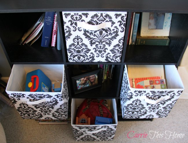Toy storage in a multi functional room