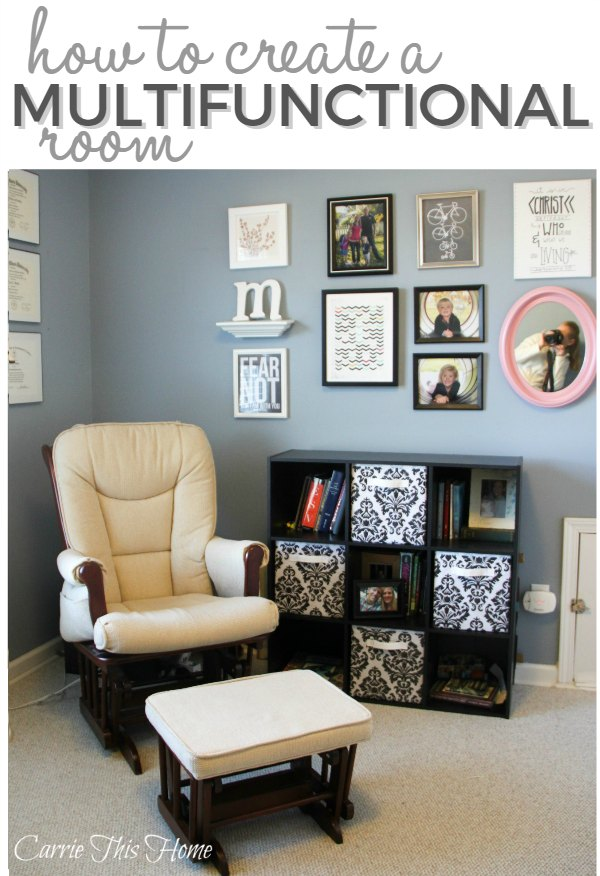 Turn a little extra space into a craft room, home office, photograpy studio and guest bedroom!