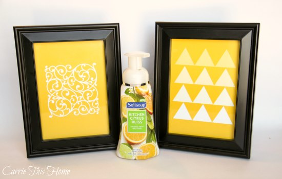 Love these free yellow printables that coordinate with the new Softsoap premium foaming hand soaps!