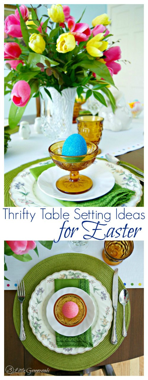 Thrifty Table Setting Ideas Easter Pinterest