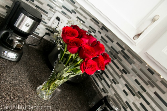 Accessorize with fresh flowers to give your kitchen a new look!