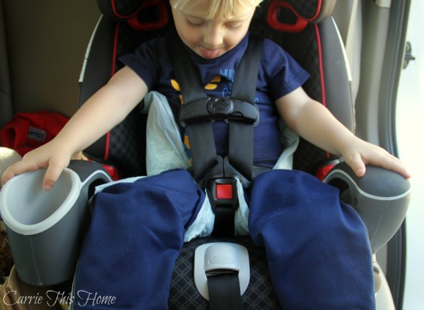 Brilliant idea! Use dog training pads to keep car seats clean while kids are potty training.