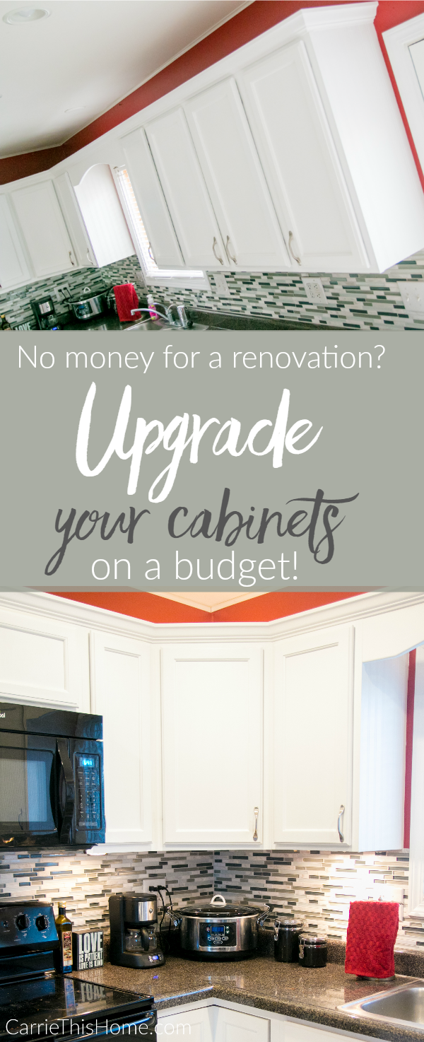 If a big kitchen renovation is not in your budget try a cabinet upgrade instead! This is packed with super helpful tips and tricks!