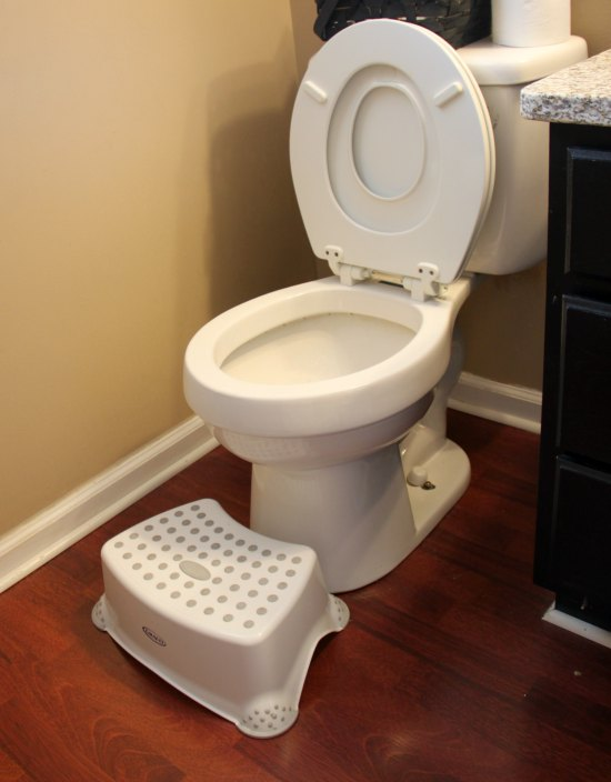 This step stool great for potty training boys!