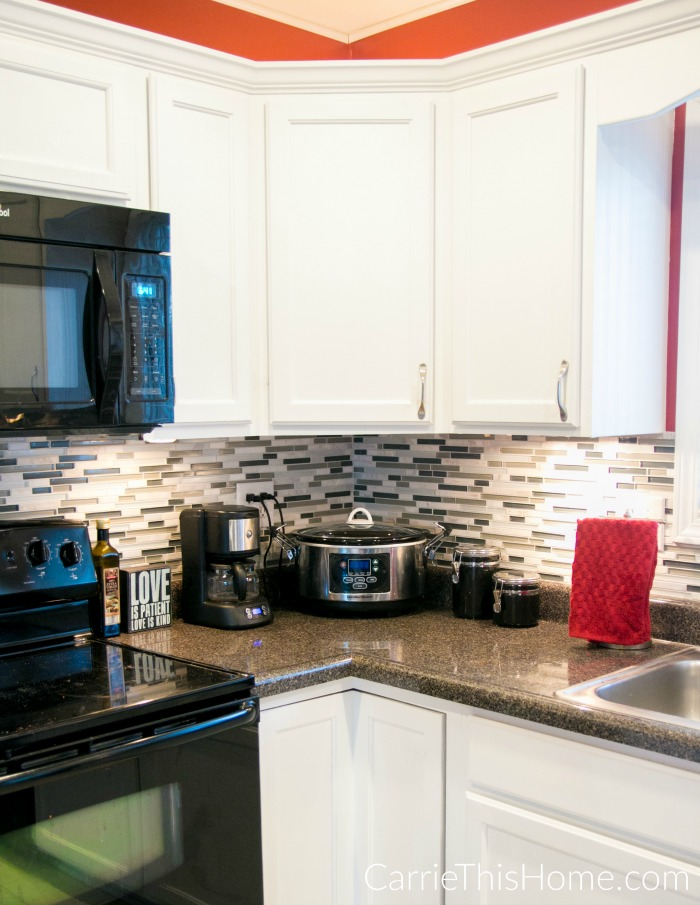 Upgrade your cabinets with a couple of smart ideas from Carrie This Home!