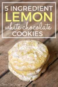 5 Ingredient lemon and white chocolate cookies