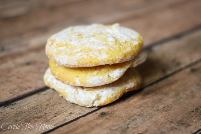 Perfect combination of tangy and sweet! These 5 Ingredient lemon and white chocolate cookies are so easy to make!