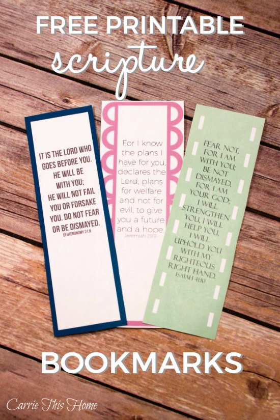 Encouraging Scripture Bookmarks
