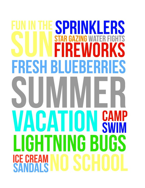 Summer Fun Free Printable (for personal use only)