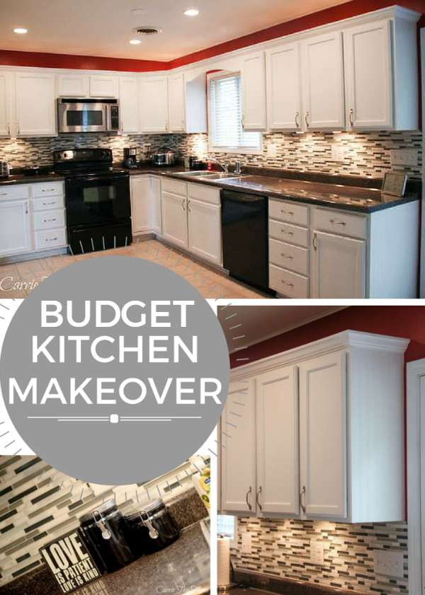 Budget kitchen makeover for Budget kitchen cabinet ideas
