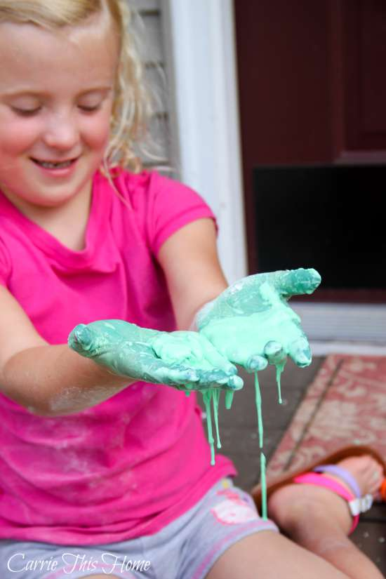 Easy homemade oobleck