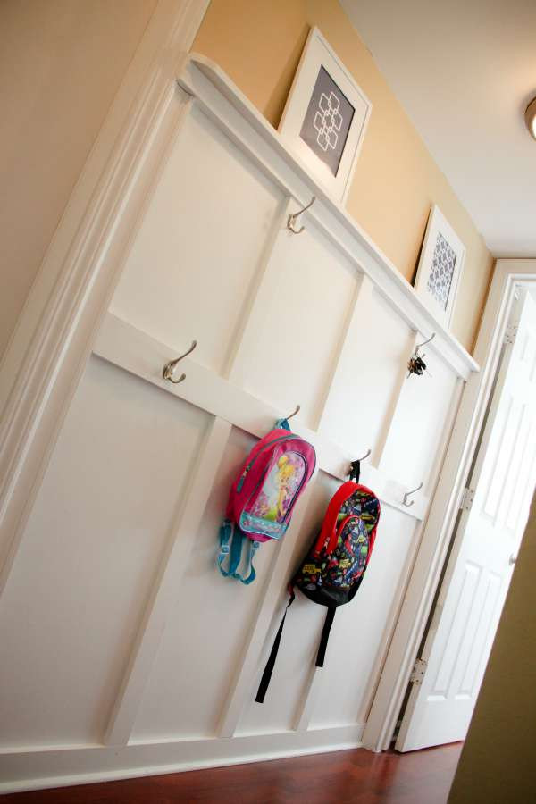 I need this! A place for the kids backpacks!
