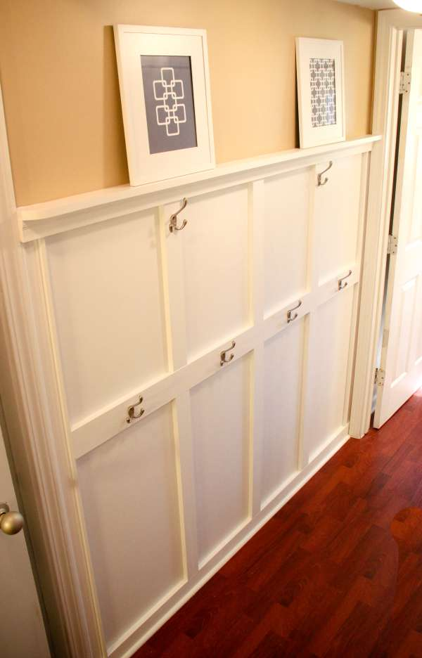 Love this easy board and batten tutorial! There's a place for everything!