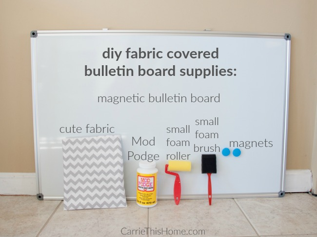 Easy DIY fabric covered magnetic board supplies
