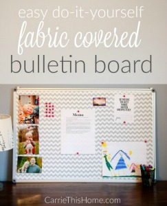 Diy fabric covered bulletin board carrie this home for Diy fabric bulletin board ideas