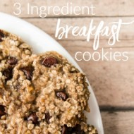 3 Ingredient Breakfast Cookies