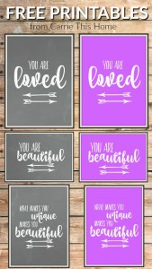 I love these cute printables & they're great for any occasion!