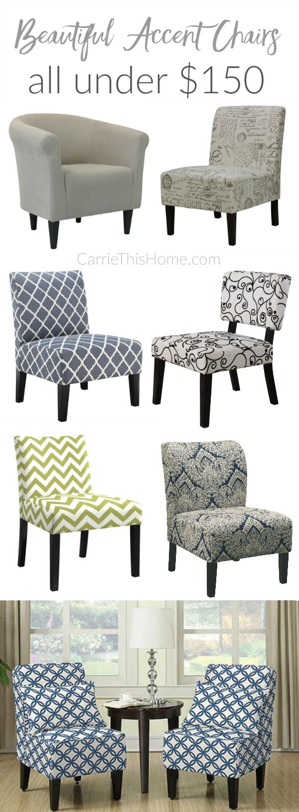 Beautiful Accent Chairs Under 150