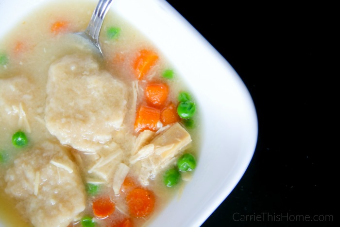 Super easy and delicious recipe! This quick and easy chicken and dumpling soup is a must try!