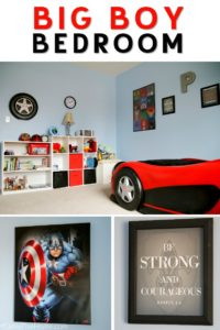 Great ideas for turning your boy's bedroom into an awesome place! Packed with big boy bedroom design ideas
