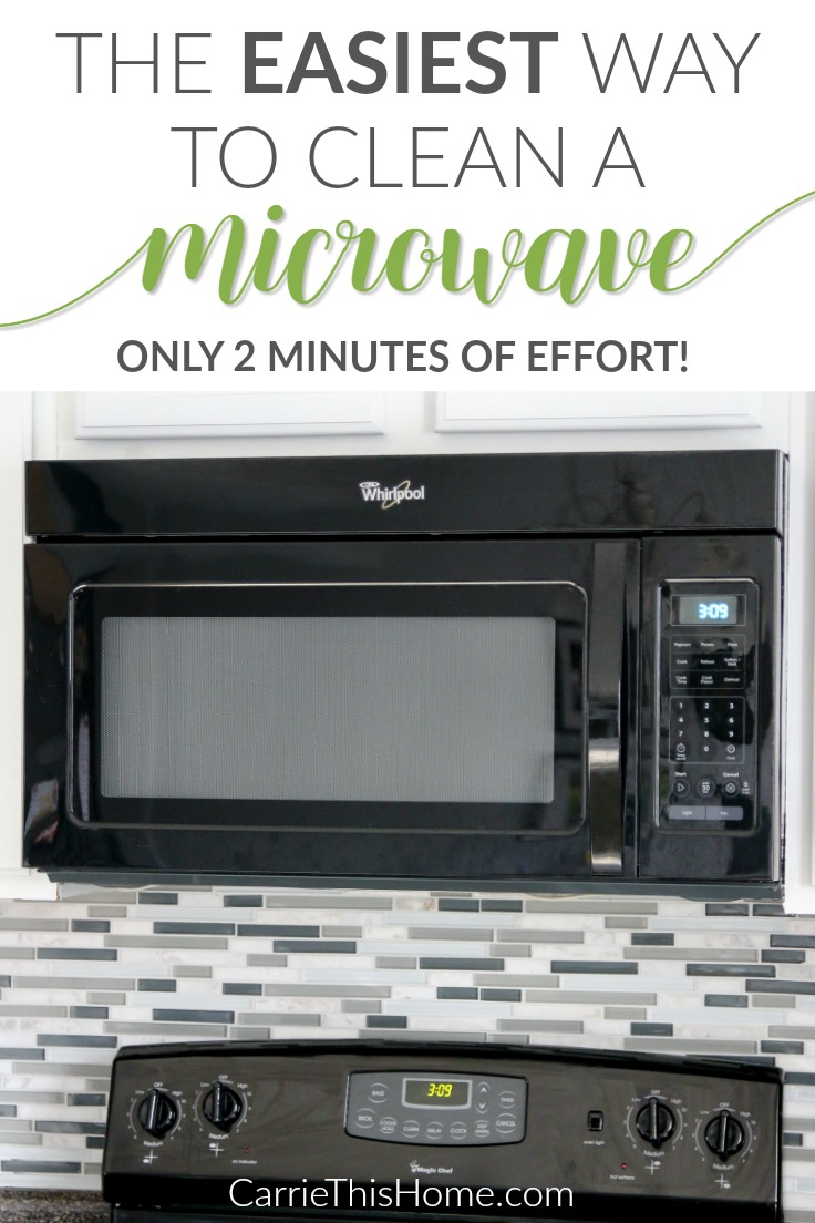 This really works and is so easy! By FAR the easiest way to clean a microwave! This helpful tip from CarrieThisHome.com