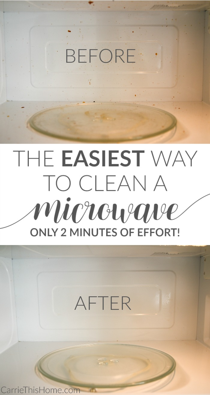 You can clean your microwave in two minutes of effort. THIS is the easiest way to clean a microwave!