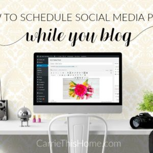 Schedule Social Media Posts While You Blog