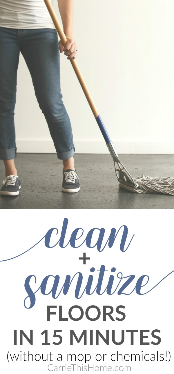 how to clean and sanitize floors in 15 minutes