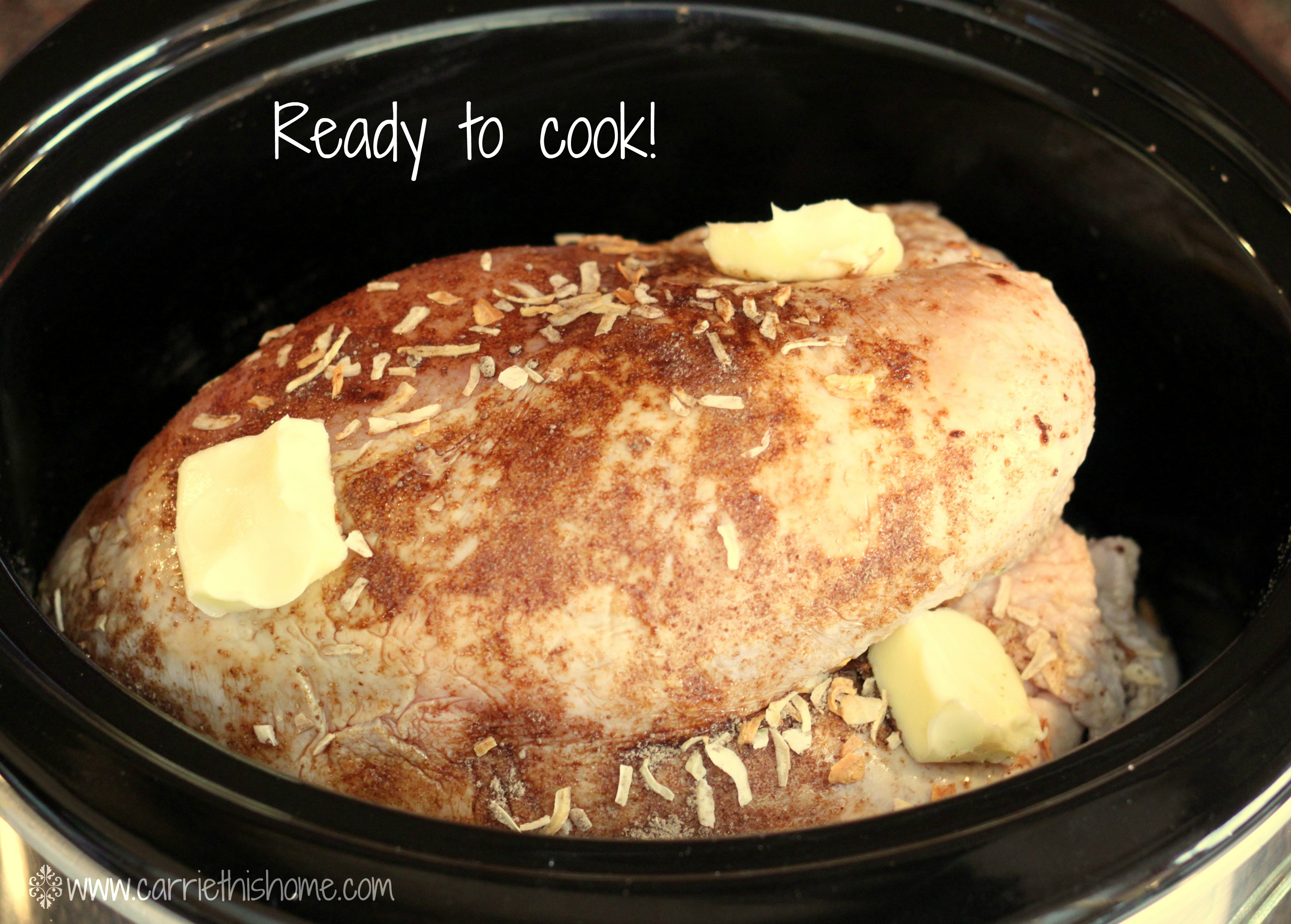 How To Take The Temperature Of A Turkey >> Easy Crock Pot Turkey Breast - Carrie This Home
