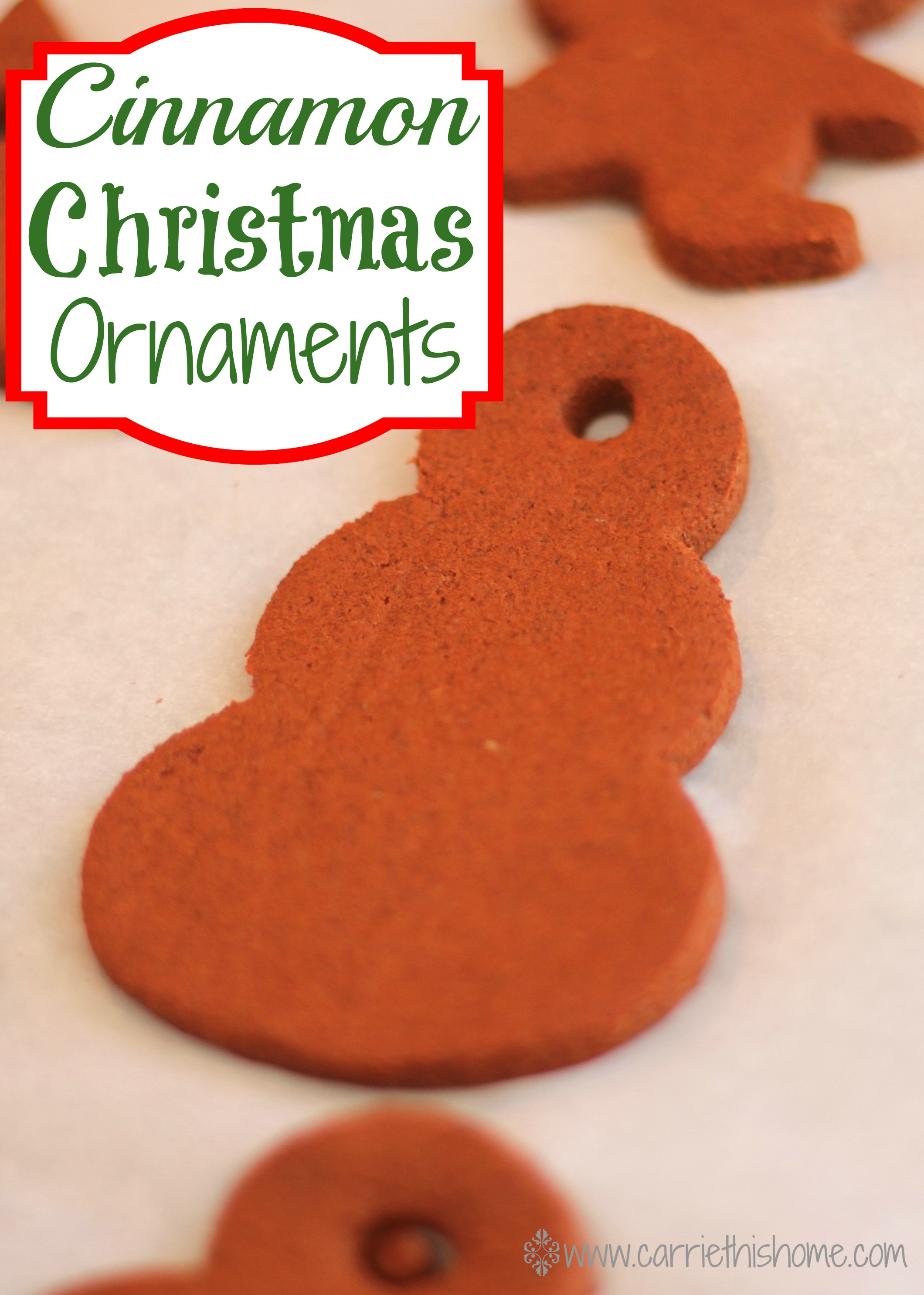 Cinnamon Christmas Ornaments Activity