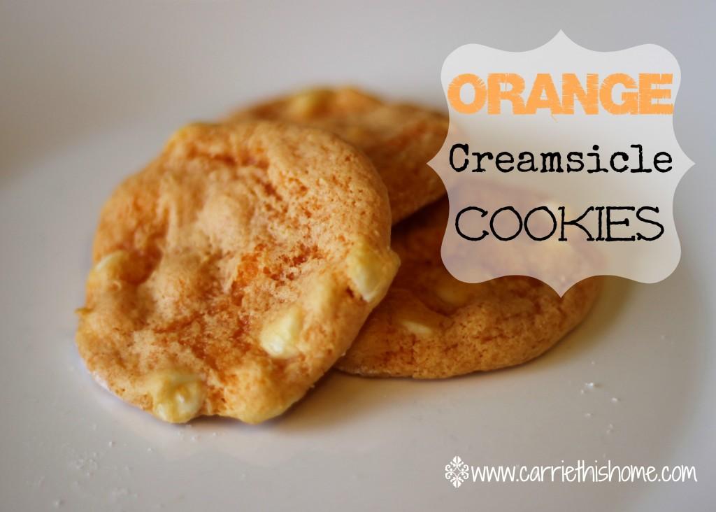 Orange creamsicle cookies from Carriethishome.com