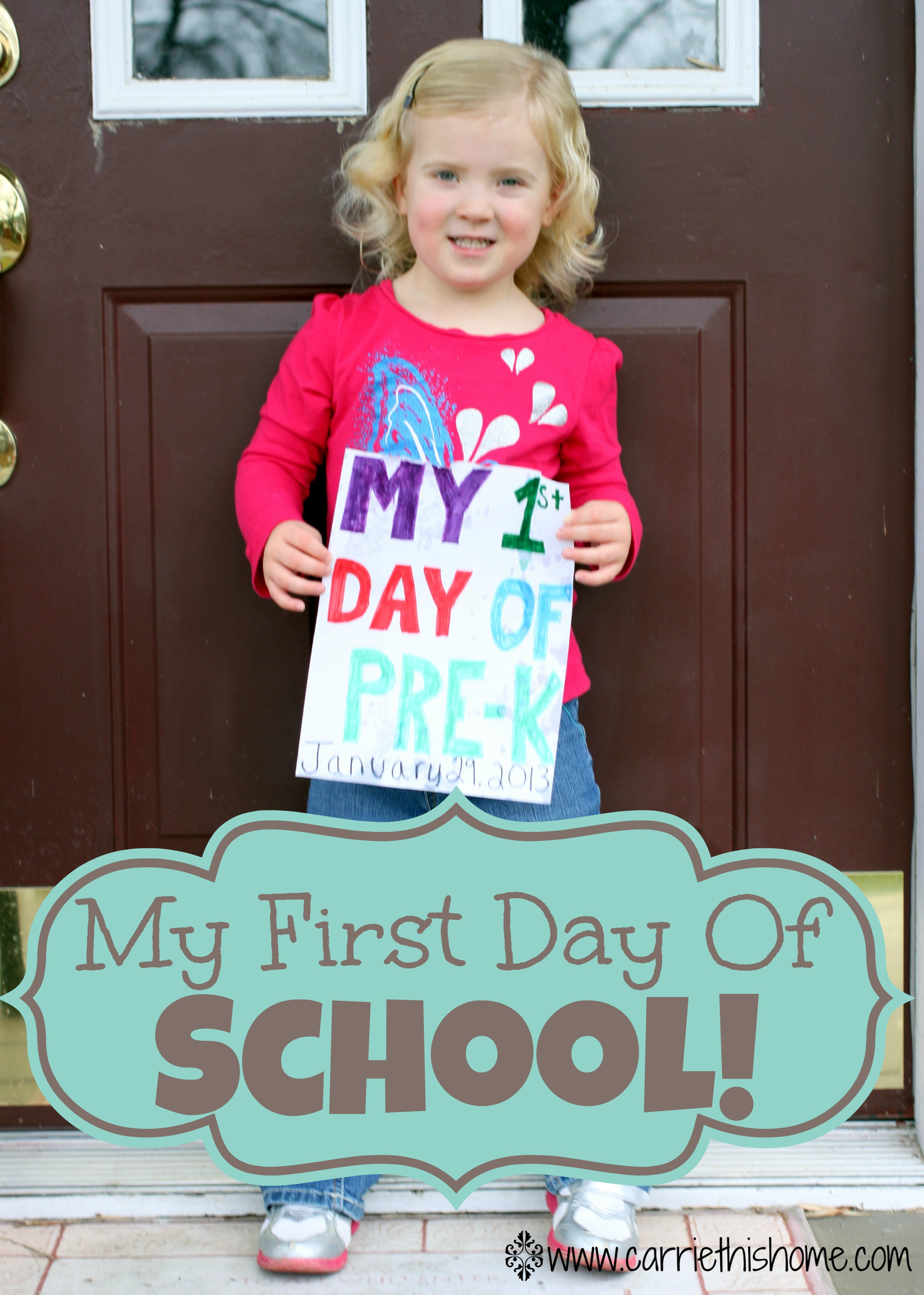 day of school first day of school