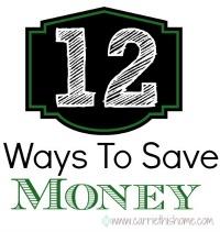 12 Ways To Save Money