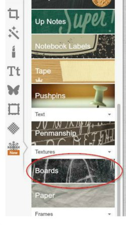 how to use PicMonkey's free chalkboard background