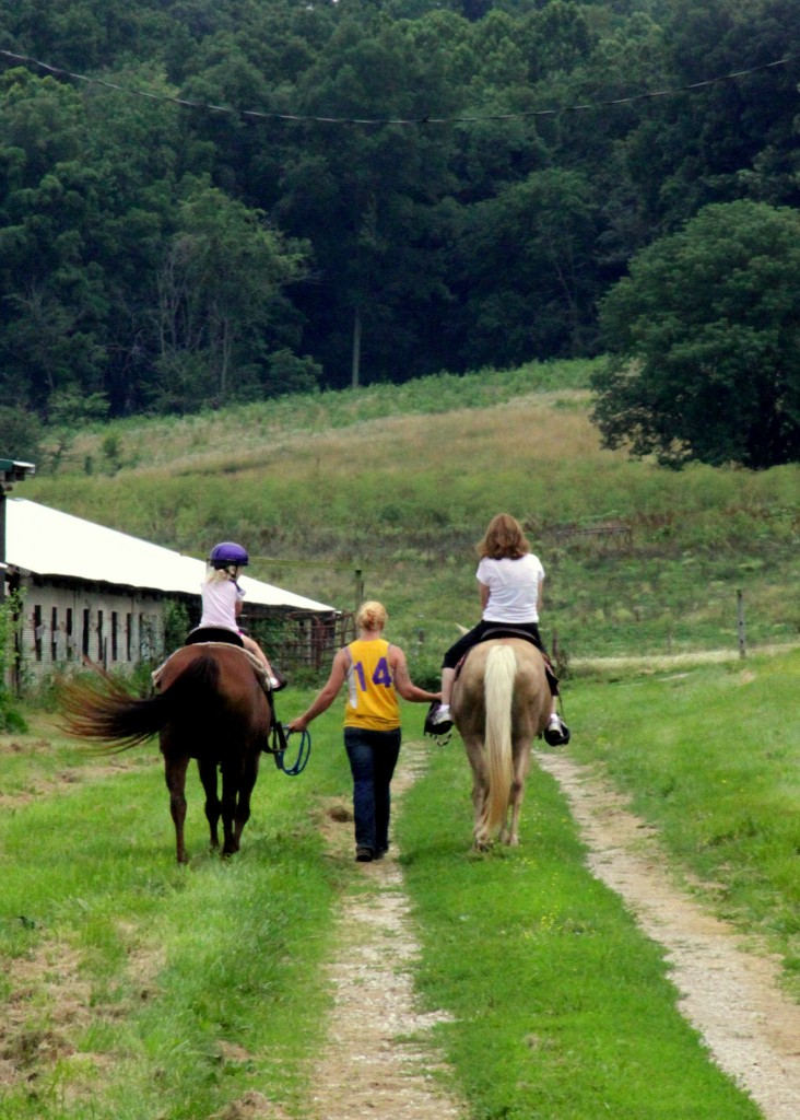 Horseback riding at Wilstem Ranch in French Lick Indiana
