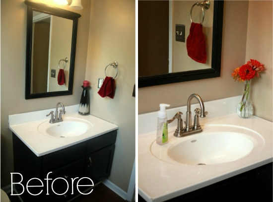 Budget Bathroom Makeover - Country bathroom makeovers