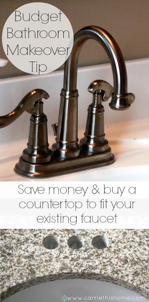 Budget bathroom makeover tip