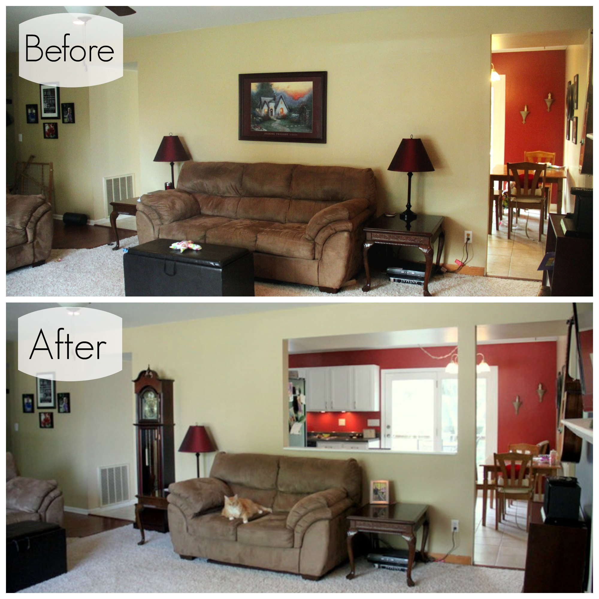 Before And After Of This Beautiful Open Concept Kitchen: Open Concept