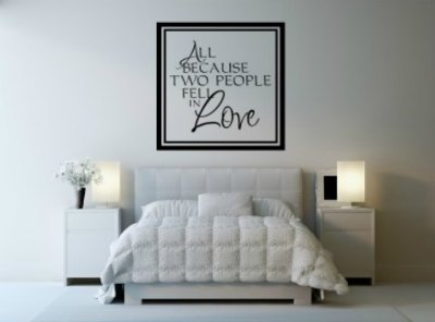 All Because Two People Fell In Love Icon Wall Stickers