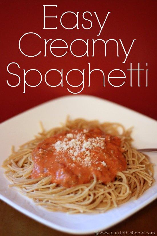 aghetti--the secret ingredient is cream cheese!