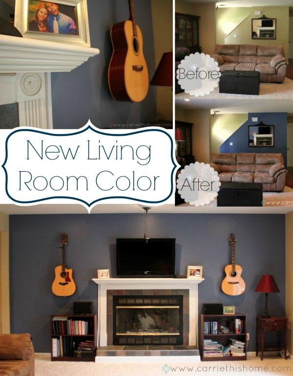 New living room color Thunderhead by Valspar