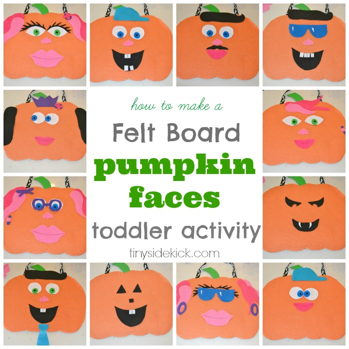Pumpkin Faces Toddler Activity