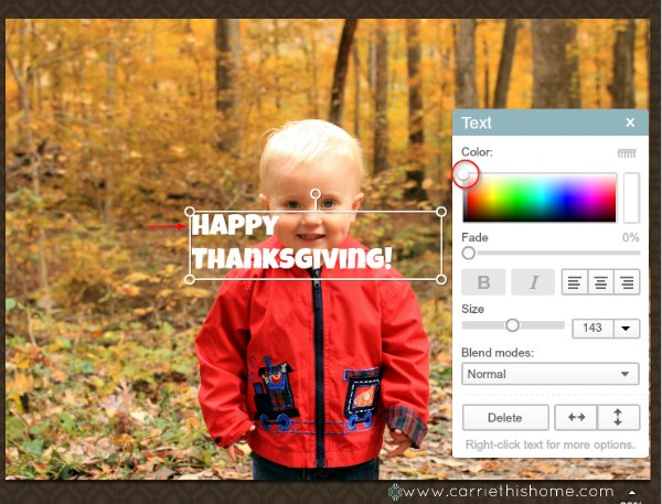 How to make a Thanksgiving Photo Card