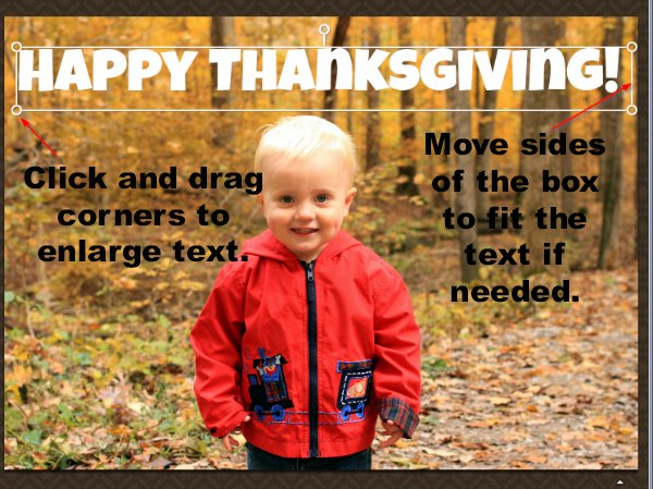 Thanksgiving Photo Card Tutorial