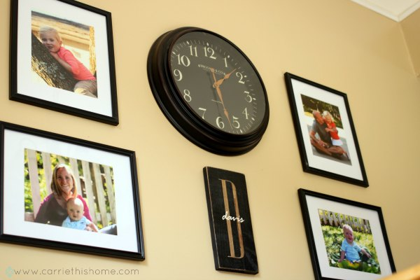 Personalized signs are a great addition to gallery walls!
