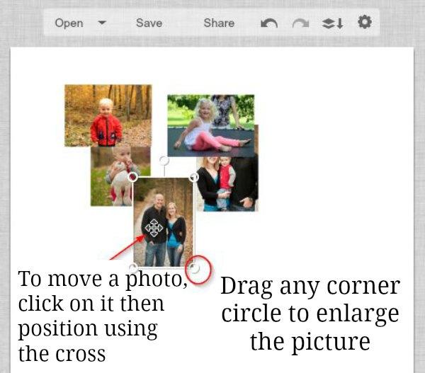 2 arrange and size photos