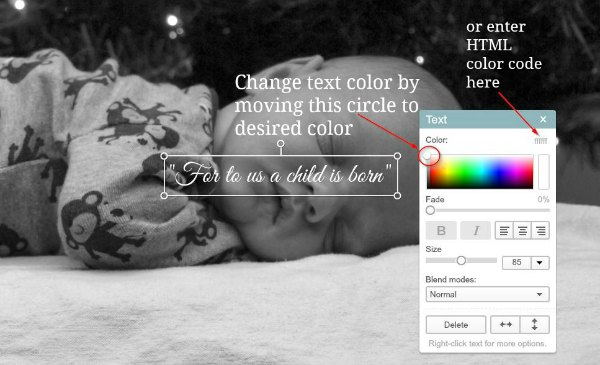 How to change text color