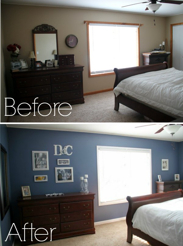 budget master bedroom makeover before after
