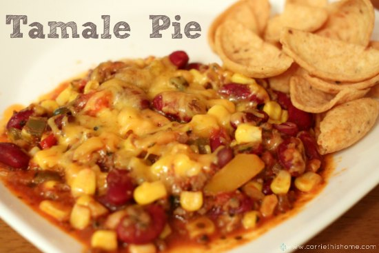 Tamale Pie a great excuse to eat a hearty dip and chips for dinner!