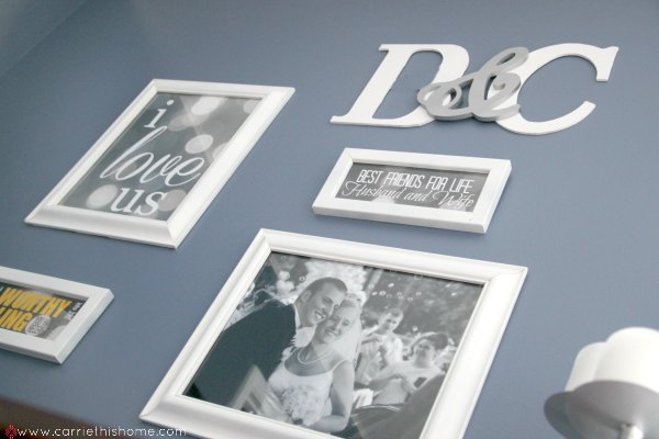 DIY Monogram--a great addition to a gallery wall!